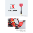 Foxeer Lollipop3 RHCP RP- SMA red antenna