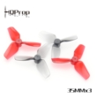 HQ Micro Whoop Prop 35MMX3 (2CW+2CCW)-Poly Carbonate-1MM Shaft - Red