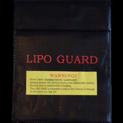 LiPo akku tartó tasak 18 x 23 cm - fekete