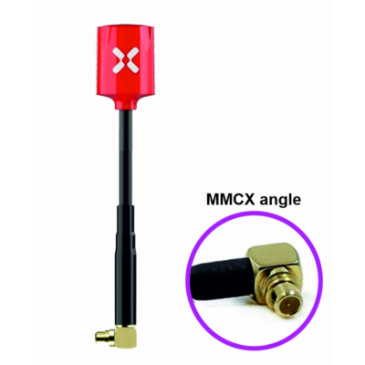 Foxeer Micro Lollipop LHCP MMCX Angle red antenna