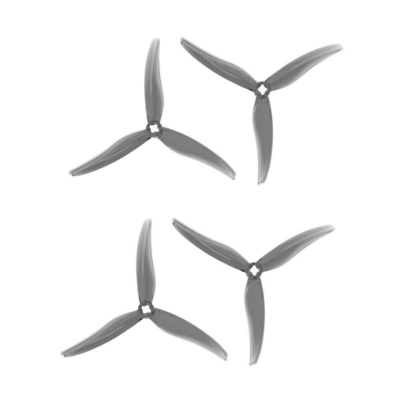 Gemfan prop SL 5130 Durable 3 Blade 2mm&M5 (Adapter) 2 pairs - Clear grey