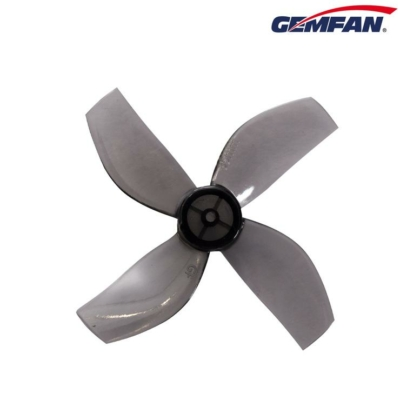 Gemfan prop 35mm Durable 4 Blade 1mm 4 pairs - Clear grey