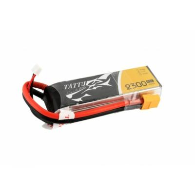 TATTU 2300mAh 11.1V 45C 3S1P Lipo Battery Pack with XT60