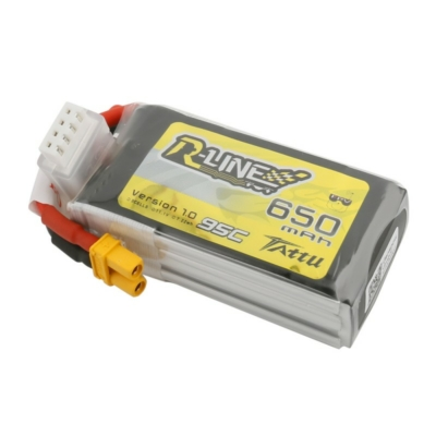 TATTU R-line 3S1P 11.1V 650mAh 95C Lipo Battery with XT30 Plug