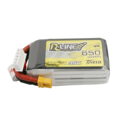 TATTU R-Line 4S1P 14.8V 650mAh 95C Lipo Battery with XT30 Plug