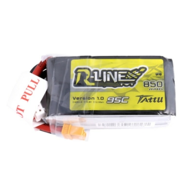 TATTU R-Line 4S1P 14.8V 850mAh 95C Lipo Battery with XT30 Plug