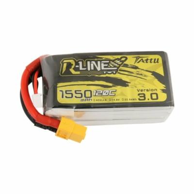 TATTU R-Line 4S1P 14.8V1550mAh 120C Lipo Battery with XT60 Plug
