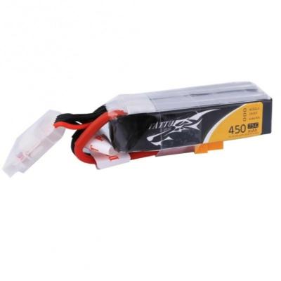 TATTU 4S1P 14.8V 450mAh 75C Lipo Battery with XT30 Plug long size for H frames