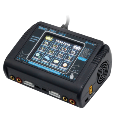 HTRC T240 dual battery charger with touch screen