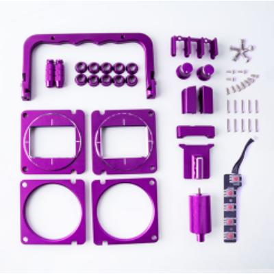 RadioMaster TX16S Design CNC Upgrade part set purple